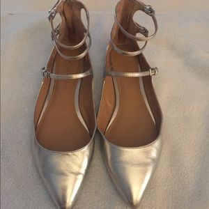Banana Republic Silver flats in size 6