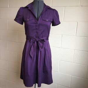 """Theory- """"Annalee"""" Purple Dress with 2 Side Pockets"""