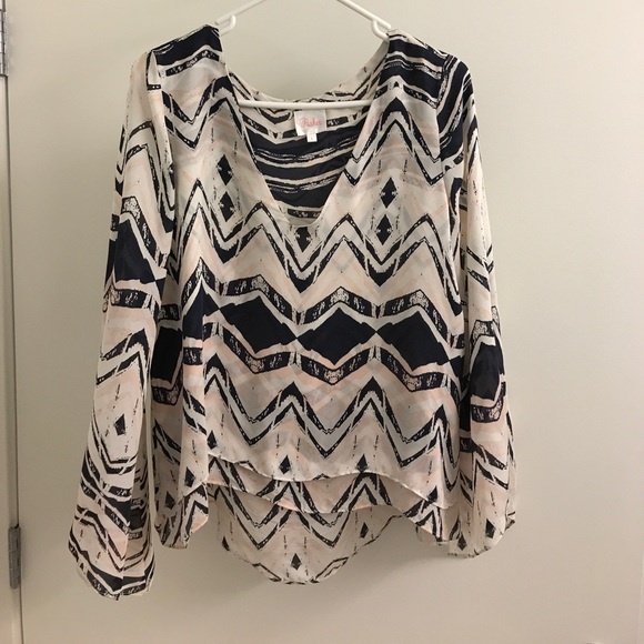 Parker Silk Geometric Top