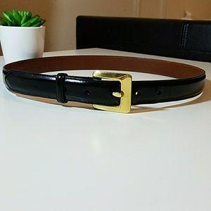 Coach vintage polished cowhide leather belt