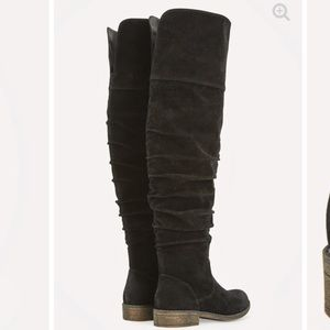 JustFab Marley Boots in 9.New Knee high faux suede