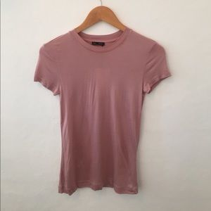 NWT Zara Crew Neck Fitted Tee