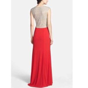 c51d6ca58fc Xscape Dresses - Red Cap Sleeve Jewel Prom Evening Gown