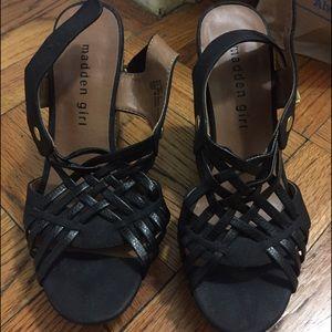 Madden Girl Black Wedges size 6