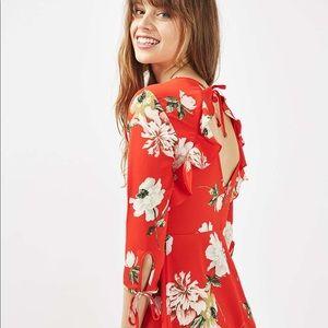 Top shop floral frill dress