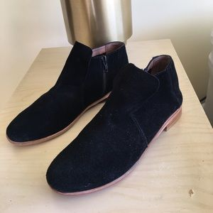 Jeffrey Campbell black suede ankle boots
