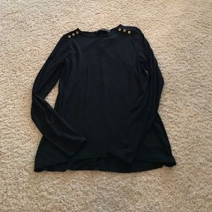 NWT The Limited Black Long Sleeve top size S