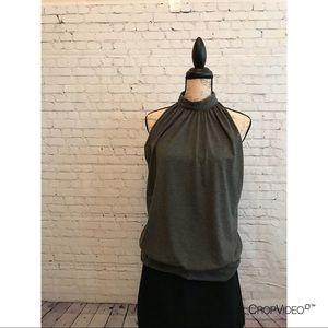 👚Milano gray sleeveless top, EUC, size L