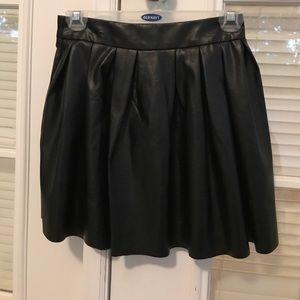 Tobi faux leather skirt