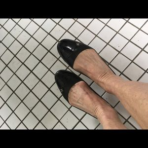 Gently Worn Chanel Ballet Slippers. Soft leather