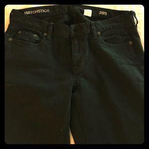 Black JCrew Matchstick jeans sz 28s