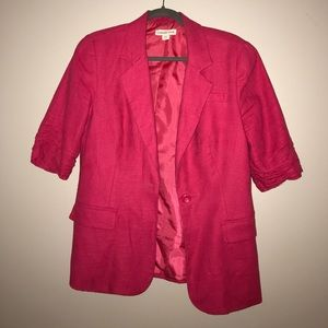 3/4 sleeve cold water creek hot pink blazer