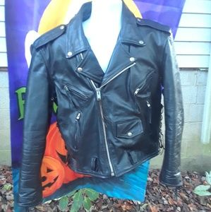 Leather king Leather Jacket Men's Size Large
