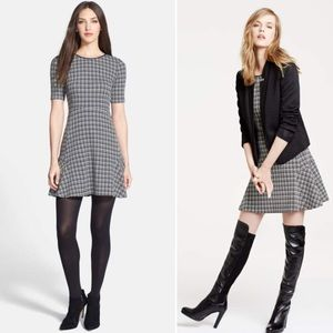 Theory Nikay Houndstooth Wool dress