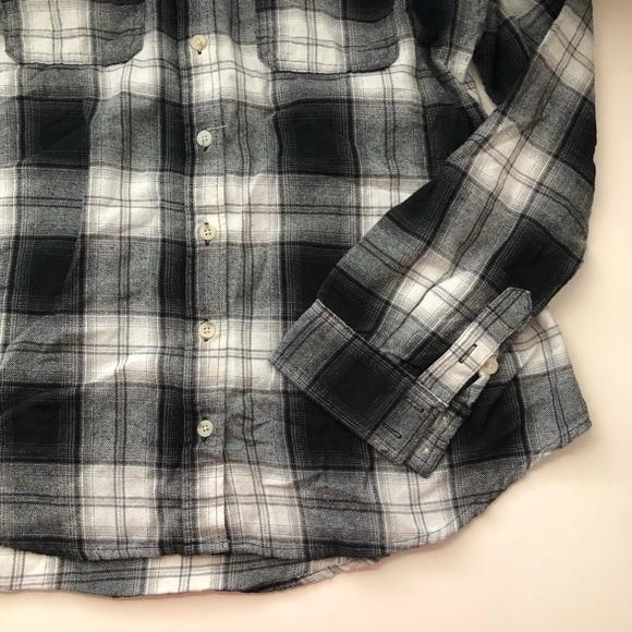 Mossimo Supply Co. Tops - Black & White Flannel Plaid Shirt