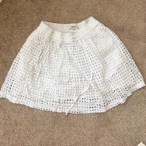 Madewell white eyelet skirt