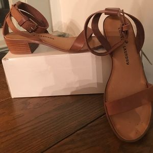 Sandals , leather upper