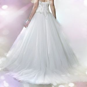 Dresses & Skirts - 🔥🆕Beaded Satin Corset Tulle Wedding Gown, 2-26W