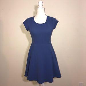 NWOT Blue flare short dress