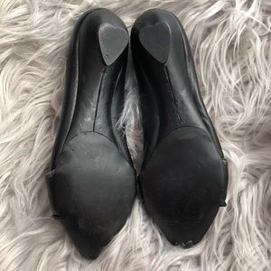 Jeffrey Campbell Shoes - Jeffrey Campbell Black Leather Lisa Flats