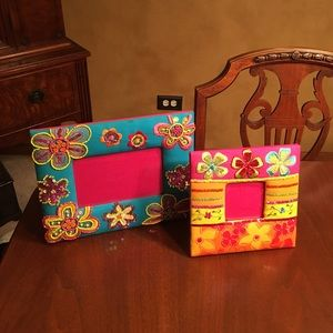 Accessories - Colorful flower and sequins picture frame set
