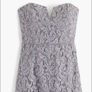 J. Crew strapless lace dress