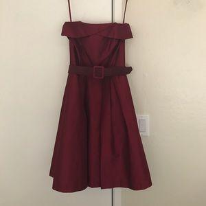 White House Black Market maroon cocktail dress