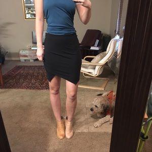 Black Bebe Asymmetrical Skirt, small