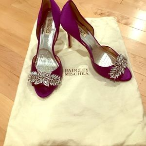 Nikki designer heels are the perfect pop of purple