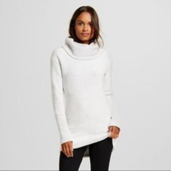 9993577a Merona Sweaters | Twill Textured Funnel Neck Tunic | Poshmark
