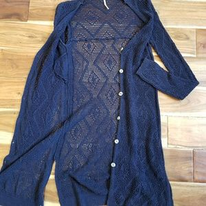 Free People Long Knitted Cardigan