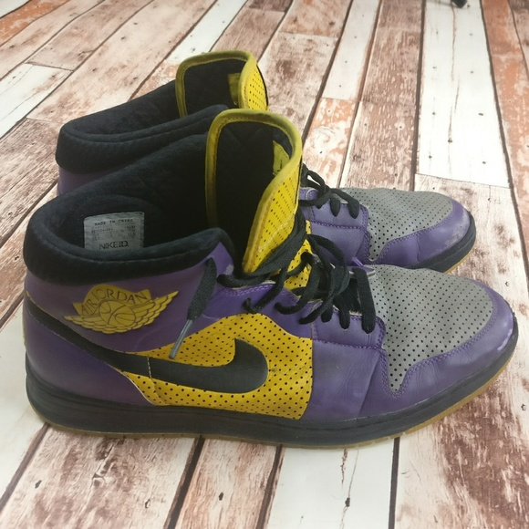 on sale 01ef3 16406 Air Jordan Other - Air Jordan s Nike ID Alpha 1 Purple   Gold