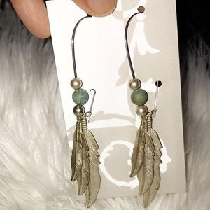 Jewelry - Fashion long wire earrings with beads