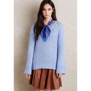Anthropologie Moth Bell-sleeve Pullover Sweater