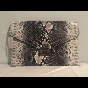 JCrew snake skin clutch bag