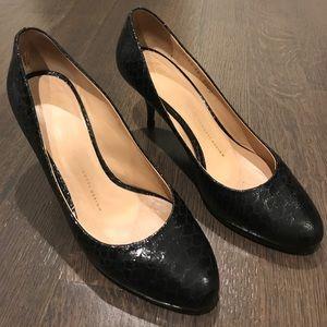 Giuseppe Zanotti Design black python leather heels
