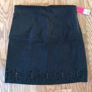 NWT Black Aztec Cut Out Skirt