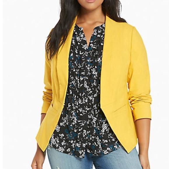 47ea4787669f8 Torrid NWT mustard color blazer
