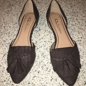 CL Laundry Chinese Laundry Gray suede flats sz 7