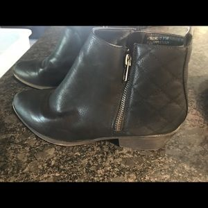 Madden Girl Black Leather Booties