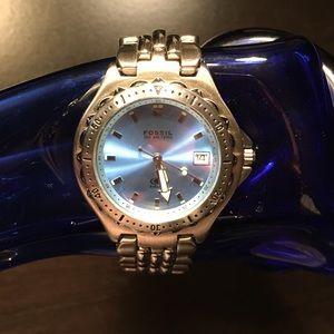 Men's 100 Meter Blue Fossil Watch