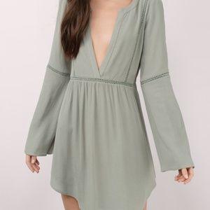 Tobi Olive Shift Dress - Size L