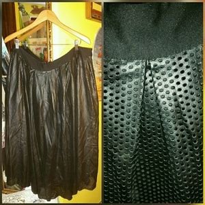 New perforated faux leather skirt - fits 20/22