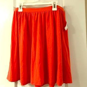 NWT Orange Skirt Old Navy Cotton Cute Size M