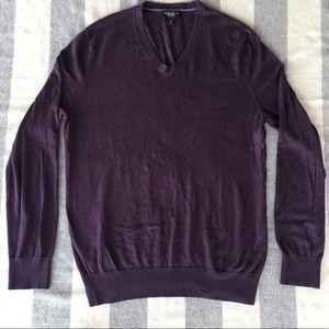 Banana Republic L purple sweater 75% silk