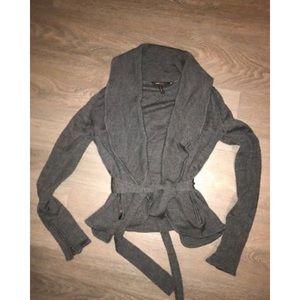 Bcbg maxazria zip charcoal cardigan xs