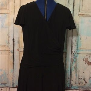 Lauren Ralph Lauren Black Knit Dress Size 16 EUC