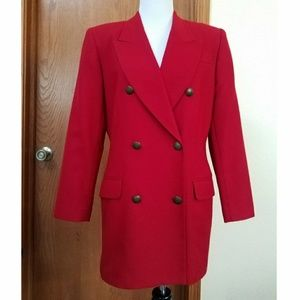 VTG Amanda Smith Red Blazer