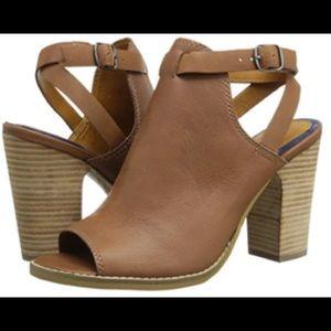 Lucky Brand Brown Block Heel Sandal