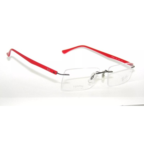 Ray-Ban Accessories | Rayban 8694 Rimless Red Glasses Frame 53mm ...